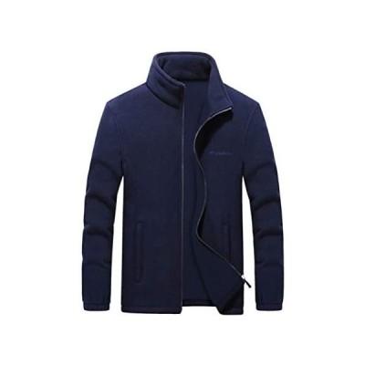 (Two Steps Behind) メンズ フリース スウェット コート ジャケット ゆったり 大きいサイズ ビッグサイズ(ネイビー 8XL)