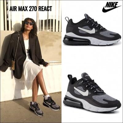 ナイキ エア マックス 270 リアクト ブラック ヴァスト グレー Nike Air Max 270 REACT Black Vast Grey