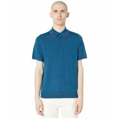ポールスミス シャツ トップス メンズ PS Merino Wool Polo Blue