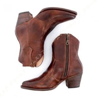 ショートブーツ レディース ブーツ 春 とんがりトゥ 靴 ヒール ポインテッドトゥ 疲れない 婦人ブーツ 黒 幅広 歩きやすい ブーツ スクエアブーツ 黒