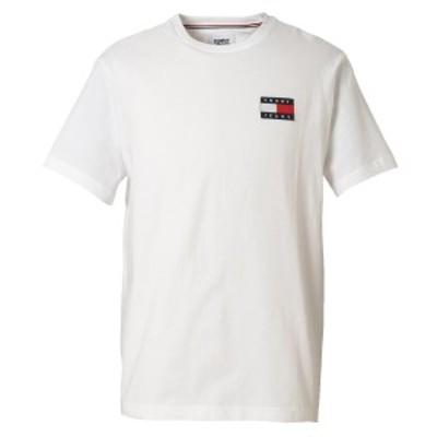 【即納】トミー ヒルフィガー Tommy Hilfiger メンズ Tシャツ トップス TJ ALBIE BADGE TEE 78F0203 112 BRIGHT WHITE フラッグロゴ クル