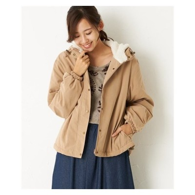 ジャケット レディース 軽くて暖か 裏ボア ピーチ素材マウンテン パーカー 冬  M/L ニッセン