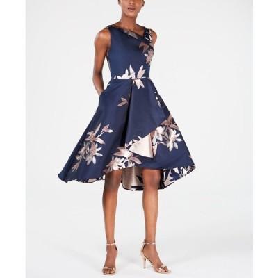 アドリアナ パペル ワンピース トップス レディース Jacquard Fit & Flare Dress Navy/Blush