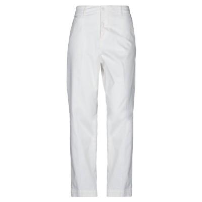 マニュエル リッツ MANUEL RITZ パンツ ホワイト 38 コットン 98% / ポリウレタン 2% パンツ