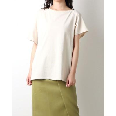 ランダ RANDA アシメネックデザインオーバーTシャツ (IVORY)