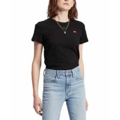 リーバイス レディース Tシャツ トップス The Perfect Crewneck T-Shirt Mineral Black