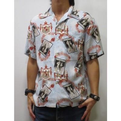 ステュディオ・ダ・ルチザン 送料無料 日本製 アロハシャツ 半袖 ピクチャー柄プリント 限定生産 5281  人気 おすすめ