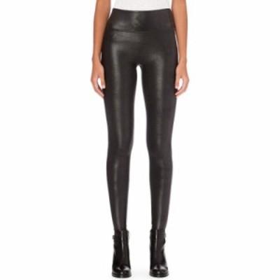 スパンクス スパッツ・レギンス high-rise faux-leather leggings Black