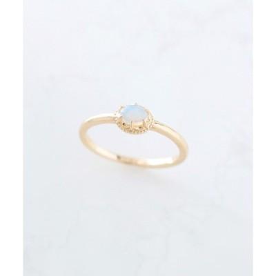 指輪 K10 天然石 ゴールドピンキーリング