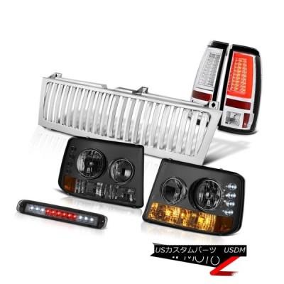 テールライト 1999-2002 Silverado WTユーロクロムテールブレーキランプ縦型グリル第3ランプLED 1999-2002 Silver