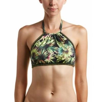 lucky ラッキー ファッション トップス Lucky Brand High-Neck Halter Swim Top L Black