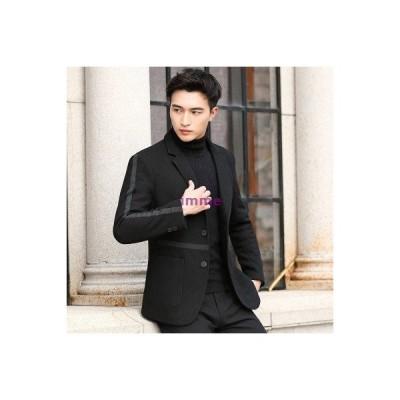 スーツ テーラードジャケット メンズ スリム 2つボタン ライン入り ビジネス ジャケット 紳士服 長袖 アウター ファッション