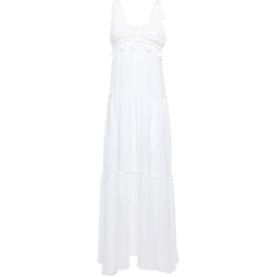 BETTiB. ロングワンピース&ドレス ホワイト S コットン 94% / レーヨン 6% ロングワンピース&ドレス