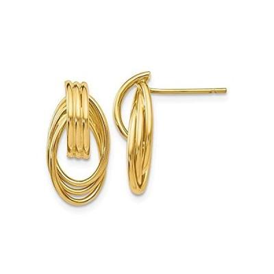 Beautiful 14k Polished Fancy Post Earrings