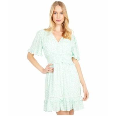 ロストアンドウォーター レディース ワンピース トップス Mojito Please Short Sleeve Mini Dress Mint White Floral