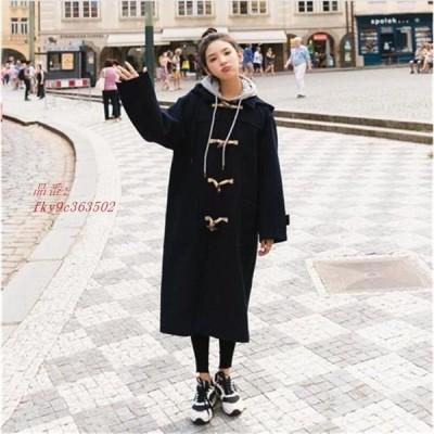 韓国ファッション ファッション ロング トレンチコート 大きいサイズ アウター レディース 防寒 ロングコートチェスターコート