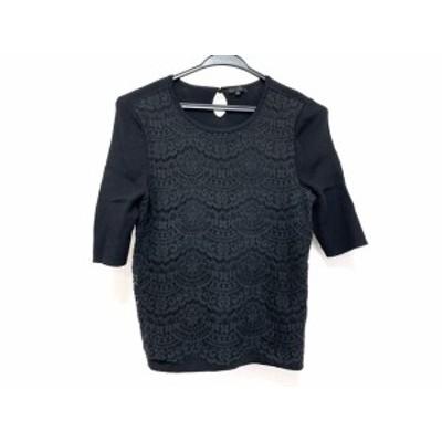 トゥービーシック TO BE CHIC 七分袖セーター サイズ2 M レディース 美品 黒 ニット/レース【還元祭対象】【中古】20200408