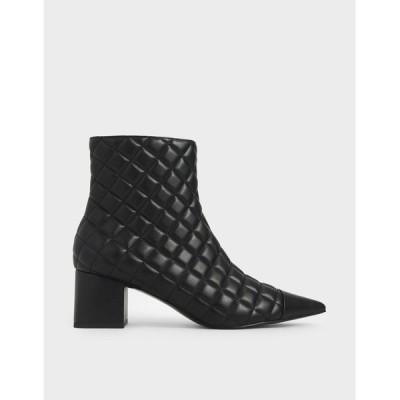 ブーツ キルト アンクルブーツ / Quilted Ankle Boots