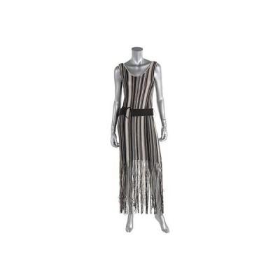 ドレス ワンピース Nic + Zoe Nic + Zoe 4983 レディース Taupe Linen Fリングe ノースリーブ Tank ドレス S BHFO