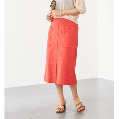 【エメルリファインズ/EMMEL REFINES】 〔ハンドウォッシャブル〕FC HW TC/LI サイドポケット スカート
