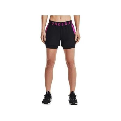 アンダー アーマー Play Up 2-in-1 Shorts レディース ショートパンツ ズボン 半ズボン Black/Meteor Pink