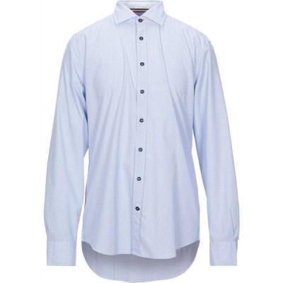 ブガッティ BUGATTI メンズ シャツ トップス patterned shirt Sky blue