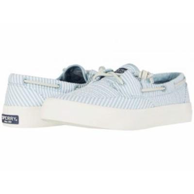 Sperry スペリー レディース 女性用 シューズ 靴 スニーカー 運動靴 Crest Boat Seersucker Blue/White【送料無料】