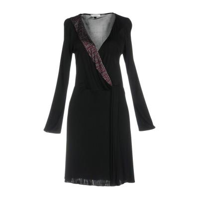 VERSACE COLLECTION ミニワンピース&ドレス ブラック 42 レーヨン 100% ミニワンピース&ドレス