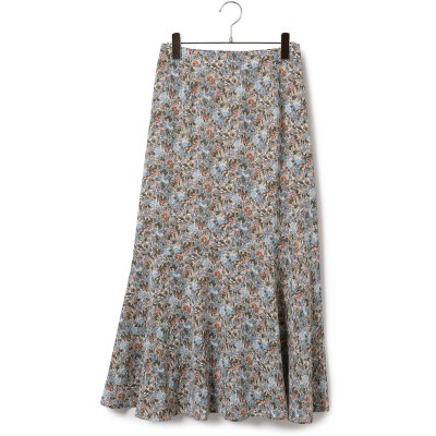 ViS(ビス)/【店舗限定】中花プリントイレギュラー切替ロングスカート