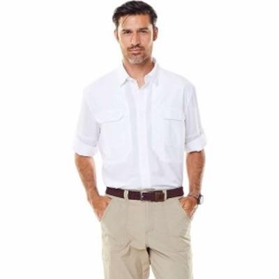 ロイヤルロビンズ Royal Robbins メンズ シャツ トップス bug barrier expedition ls shirt White