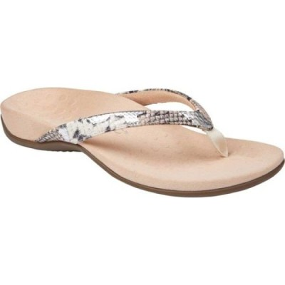 バイオニック Vionic レディース サンダル・ミュール トングサンダル シューズ・靴 Dillon Thong Sandal Silver Boa Metallic Leather