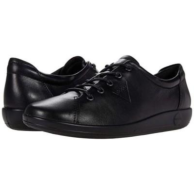 エコー Soft 2.0 Tie Sneaker レディース スニーカー Black/Black Sole Cow Leather