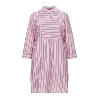 CAMICETTASNOB ミニワンピース&ドレス ピンク 48 リネン 55% / コットン 45% ミニワンピース&ドレス