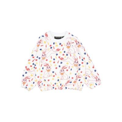 MINI RODINI スウェットシャツ ホワイト 6 オーガニックコットン 100% スウェットシャツ