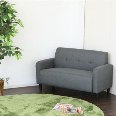 【送料無料】ソファー コンパクト 2人掛け ソファ ブルー ベージュ 幅120 ファブリック 家具