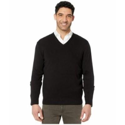 カルバンクライン メンズ ニット・セーター アウター Cotton Modal Long Sleeve V-Neck Black