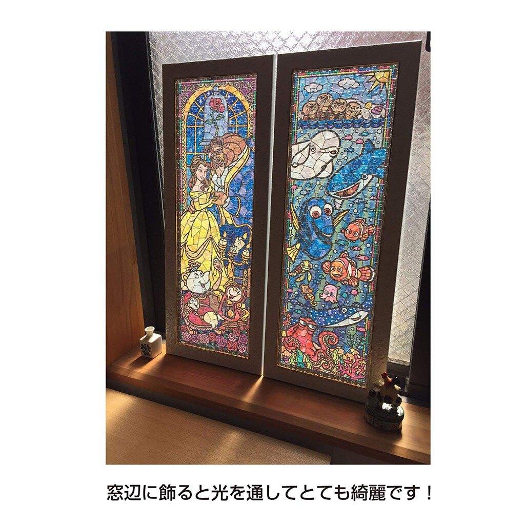 【預購】日本進口正版 怪獸電力公司 456片拼圖 透明壓克力材質 迪斯尼 日本 迪士尼 PIXER 彩色玻璃【星野日本玩具】