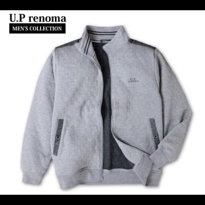 送料無料 メンズ ジップジャケット U.Prenoma レノマ カットキルト アウター 紳士