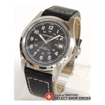 ハミルトン HAMILTON Khaki Field カーキ フィールド メンズ 腕時計 自動巻き H70455733 アナログ レザー ブラック 黒 おしゃれ ポイント消化