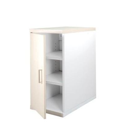 サイドボックス ハイタイプ WH ホワイト 生活用品 インテリア 雑貨 収納家具 袖机[▲][TP]
