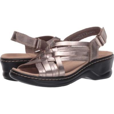 クラークス Clarks レディース サンダル・ミュール シューズ・靴 Lexi Carmen Pewter Metallic Leather