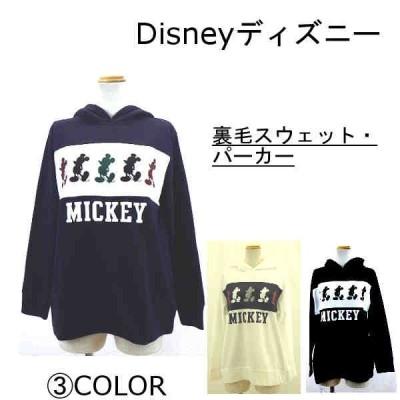 Disneyディズニー ミニ裏毛スウェット・パーカー(LL・3Lサイズ)レディース