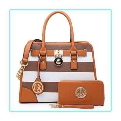 【新品】DS COLLECTION Fashion Woman Handbag and Wallet set~Beautiful Tote~Designer Satchel~Nice Purse (6892W) CF/WT(並行輸入品)