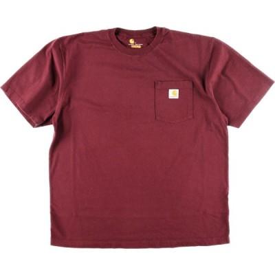 カーハート Carhartt ORIGINAL FIT ワンポイントロゴポケットTシャツ メンズL /eaa159417