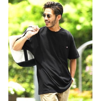 (JIGGYS SHOP/ジギーズショップ)Dickies(ディッキーズ)半袖Tシャツ / Tシャツ メンズ ティーシャツ 半袖 クルーネック/メンズ ブラック