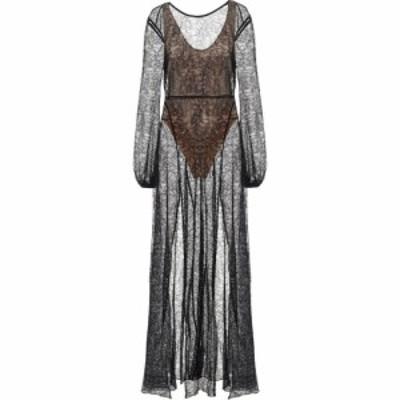 ローテート ROTATE BIRGER CHRISTENSEN レディース パーティードレス マキシ丈 ワンピース・ドレス Lisa Floral-Lace Maxi Dress Black