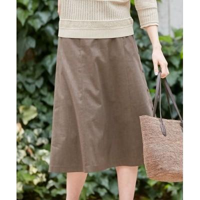 J.PRESS/ジェイプレス 【シワになりにくい】洗えるFITTY FLAX スカート ブラウン系 7