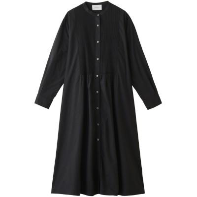 MIDIUMISOLID ミディウミソリッド pin tuck shirt OP レディース ブラック F