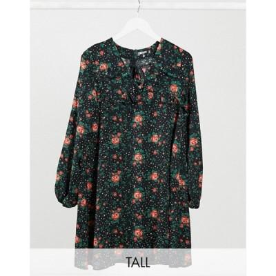 ミスガイデッド レディース ワンピース トップス Missguided Tall long sleeve shift dress in floral