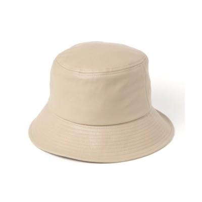 BAYFLOW / フェイクレザーバケットハット WOMEN 帽子 > ハット